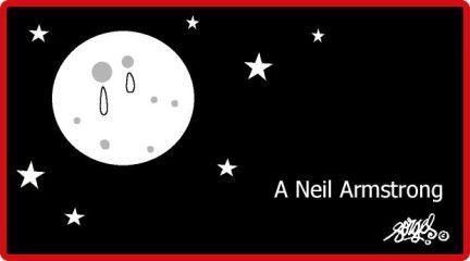 El gran Forges se despide de Neil Armstrong, 1930-2012.