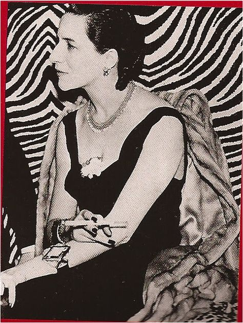 Style Icon: Diana Vreeland // dressed in Schiaparelli at El Morocco, Photo by Jerome Zerbe.