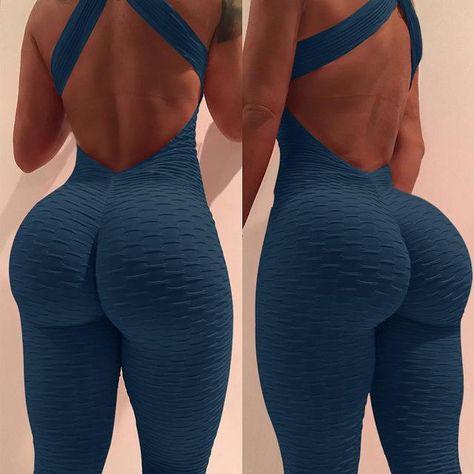 Black Anti Cellulite Bodysuit Women Backless Jumpsuit Tank Romper Catsuit Macacao Jumpsuit Combinaison Femme Color Black Size S