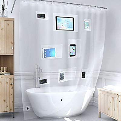 Amazon Com Better Than Bubbles Tech Friendly Clear Shower Curtain