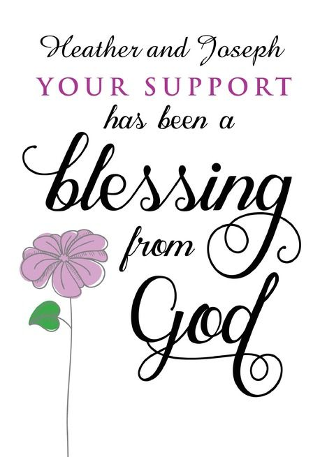 Custom Front Sympathy Thanks Your Support Is A Blessing From God Card Ad Sponsored Sympathy Front Custom Support A Blessing Sympathy Thankful
