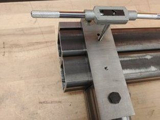 Picture Of Making And Attaching The Front Plate Belt Grinder Belt Grinder Plans 2x72 Belt Grinder Plans