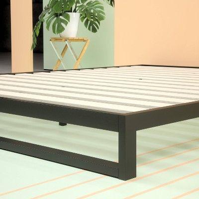 7 Queen Trisha Platform Bed Frame Black Zinus Bed Frame