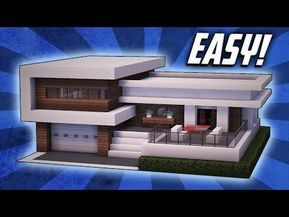 Minecraft How To Build A Modern Mansion House Tutorial 23 Youtube Minecraft Modern Modern Minecraft Houses Minecraft House Designs