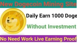 Cloudhash 46 New Doge Mining Site | New Best Free Dogecoin Cloud