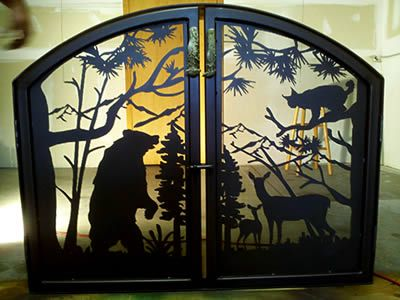 Custom #fireplace screen will make your home or #cabin look ...