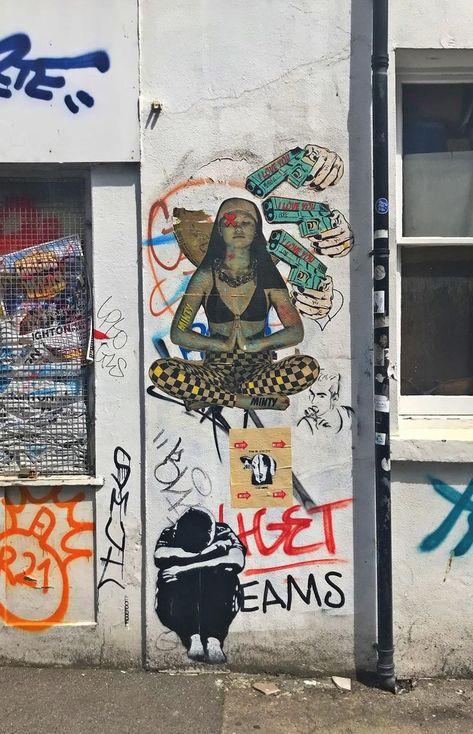 Graffiti est un crime Homme T Shirt Graffiti Street art Banksy