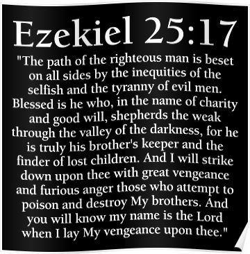 Ezekiel 25:17 - Full Passage Poster #deppresionandanxietyfeelings