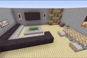 Custom Minecraft Bedroom Furniture Ideas Dining Room Woman Fashion Decoration Furniture Minecraft Room Minecraft Interior Design Minecraft Designs