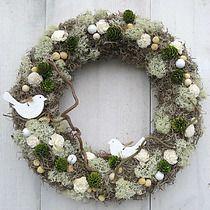 Wieniec Wianek Wielkanoc Stroik Wielkanocny 30cm 6754829937 Oficjalne Archiwum Allegro Fabric Wreath Diy And Crafts Wreaths