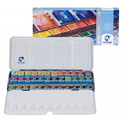 Royal Talens Van Gogh Artists Solid Watercolors Metal Box Set Of