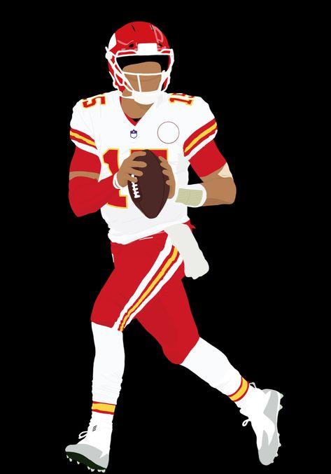 Kansas City Chiefs Football, Nfl Football Players, Football Is Life, Football Uniforms, Football Art, Football Helmets, Chiefs Wallpaper, Football Wallpaper, Football Player Drawing
