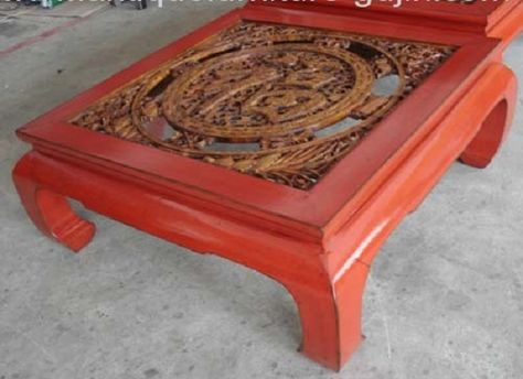 chinese carved wood table