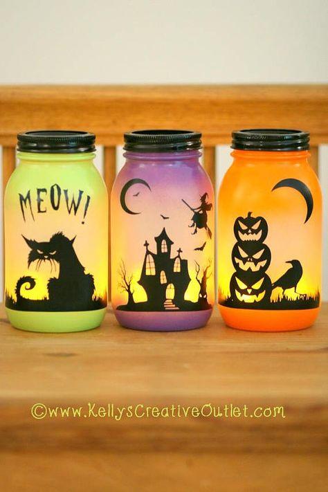 Halloween Decoration - Halloween Luminary - Spooky Decor - Halloween Decorations - Fall Decor - Haunted House - Black Cat - Pumpkin Decor