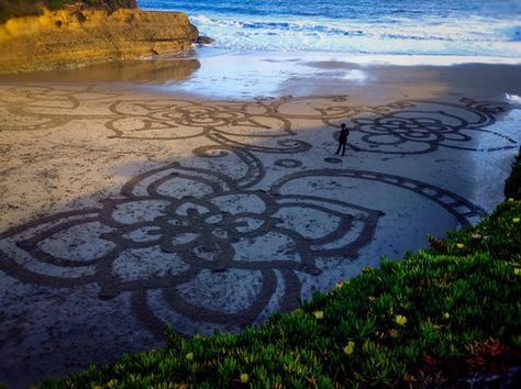 Sand Drawing Color Photograph Canvas Wall Art (16 x 20) – Rodney Washington | Art Photography - $104 - http://rodneywashingtonartphotography.com/