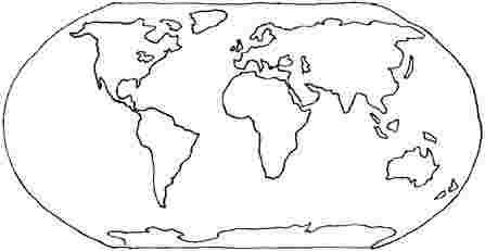 Best Printable Map Coloring Pages Continents Of The World 5555