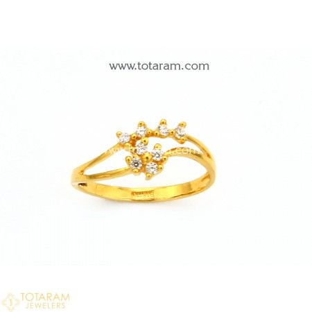 948cb0283 22K Gold Ring For Women with Cz - 235-GR4311 - Buy this Latest Indian Gold  Jewelry Design in 2.050 Grams for a low price of $141.45