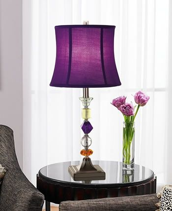 Purple Bijoux Table Lamp Glass Table Lamps Deep Discount Lighting Lamps Living Room Purple Lamp Table Lamp