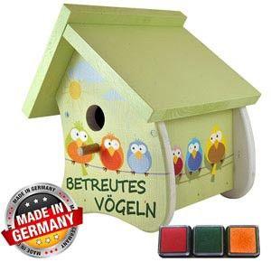Anleitung Fur Ein Kunterbunt Bemaltes Vogelhaus 0