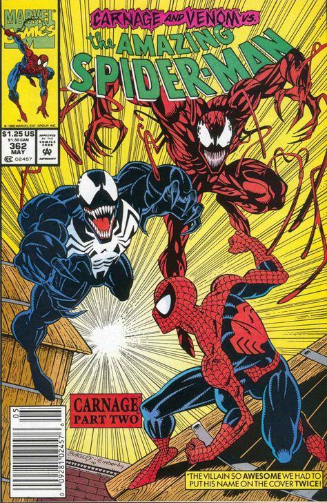 Amazing Spider-Man #362 2nd App Of Carnage Bagley Michelinie Venom Movie Marvel