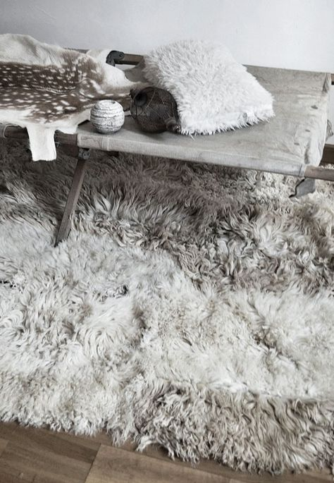 = sheepskin rug = Mechant Studio