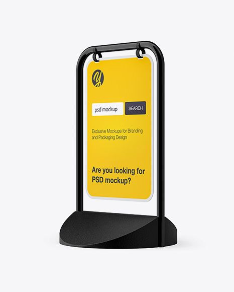 Pavement Sign Outdoor Advertising Half Side View In Outdoor Advertising Mockups On Yellow Images Object Mockups Outdoor Advertising Mockup Free Psd Outdoor Advertising Mockup
