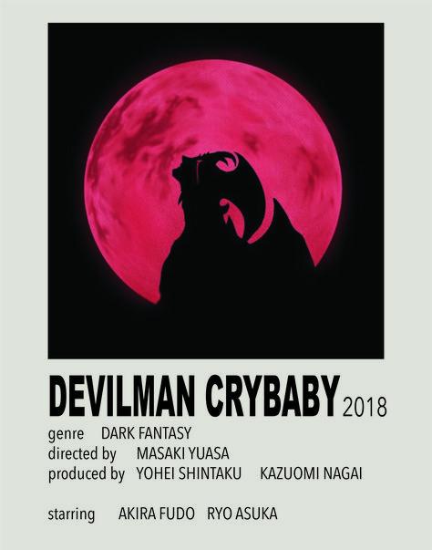 Devilman Crybaby Polaroid Poster by Veronica