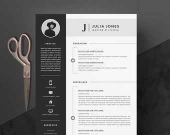 Minimalist Resume Template Cover Letter Icon Set For Etsy Resume Template Letter Icon Resume Template Professional