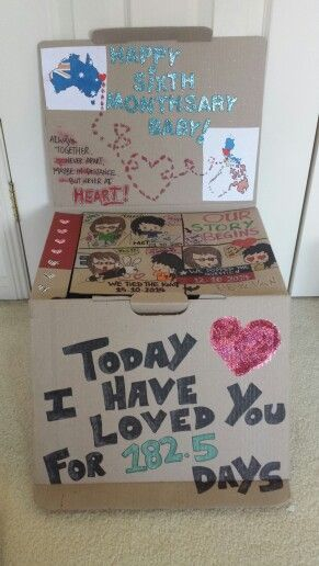 Something I Did For My Boyfriend On 6th Months Anniversary Crafty Creations Pinterest Anniversaries Boyfriends And Gift