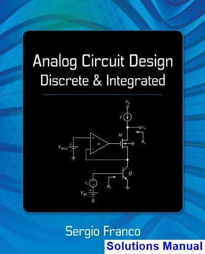 Franco fundamentals electric pdf by manual circuit sergio solution