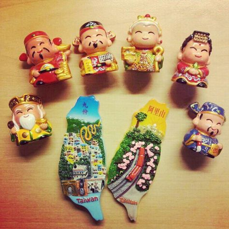Taipei fridge magnet Taiwan travel souvenir