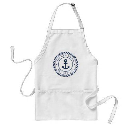 Nautical Theme Navy Blue Apron