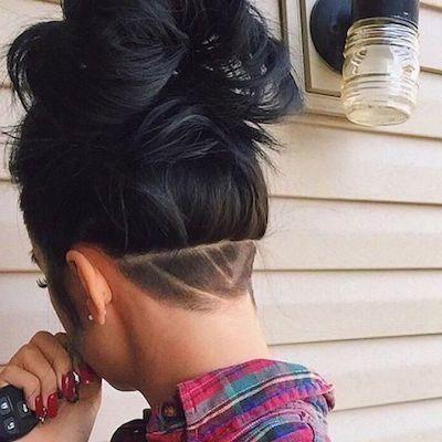 Image Result For Undercut Side View Long Hair Woman Shaved Hair Designs Undercut Long Hair Female Undercut Long Hair
