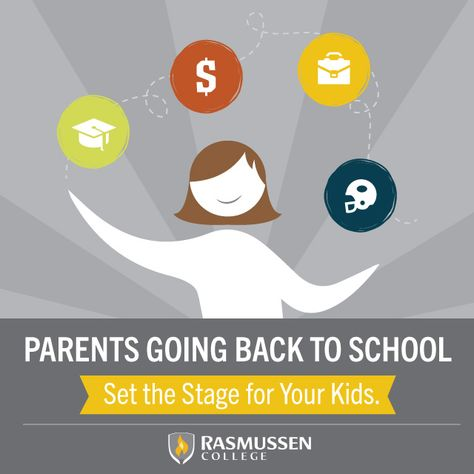 Ever thought going back to school was just doing something for yourself? Multiple studies show parents with higher levels of education tend to raise children who go on to attain high levels of education, too. #parenting #education #college