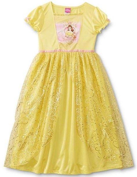 Disney Girls Belle Nightgown Yellow