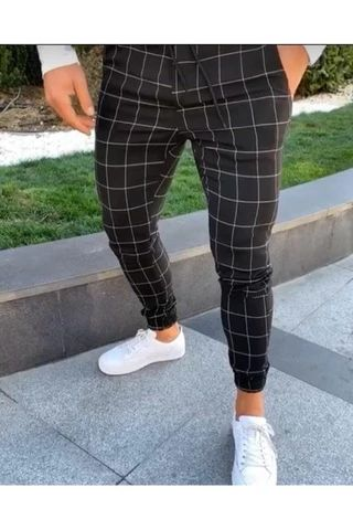 Best Chance for Hirigin 2019 Men Casual Plaid Pants Long Trousers Tracksuit Fit Workout Casual Sweatpants If You search information for pant.