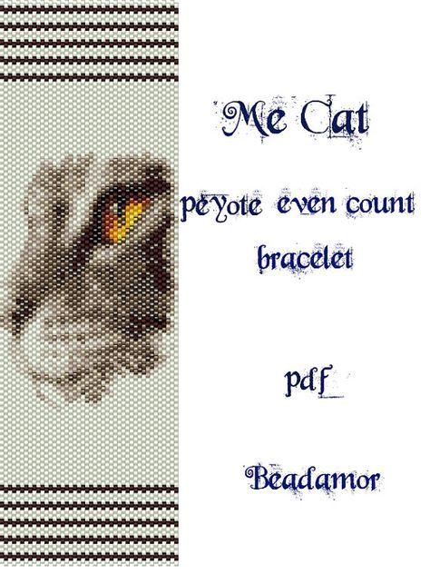 Peyote Pattern for bracelet: Me Cat  INSTANT DOWNLOAD by Beadamor