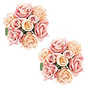 25cm Large Artificial Silk Rose Flowers Bouquet Head Blossom Wedding Party