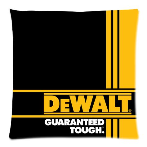 Best Dewalt Guaranteed Tough Logo Decorative Zippered Throw Cushion Pillow Case On Storenvy Throw Cushions Tough Dewalt