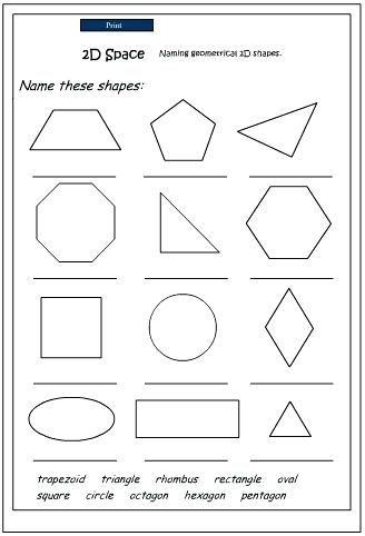 2 D Shapes Math Naming Shapes Mathematics Skills Online Interactive Activity Lessons Yea Shapes Worksheet Kindergarten Shapes Worksheets Two Dimensional Shapes