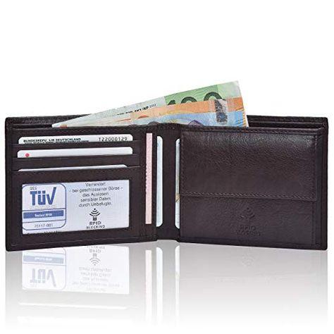 6a728623dc4a3 Hochwertige Ledergeldbörse für Sie   Ihn Mundial RFID- Schutz Echtes Leder  Damen Herren Querformat Geldbeutel