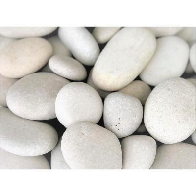 Landscaping With Rocks Beach Pebbles, White Garden Rocks Home Depot