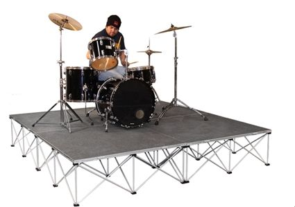 Intellistage Lightweight 8 X8 Drum Riser System Carpet Portable Stage Stage For Sale Drums
