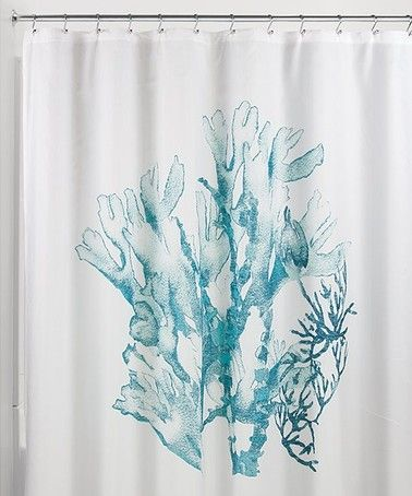 Deep Teal Coral Shower Curtain Teal Shower Curtains Coral Shower Curtains Shower Curtain