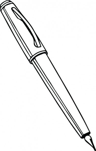 Coloring Picture Of Pen Calligraphy Pens Coloring Pictures Coloring Pages