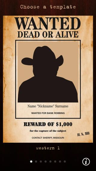 Wanted Poster Pro  An App To Create Wanted Posters   Class
