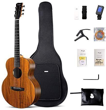 Enya Em X1 Acoustic Guitar Hpl 36 Inch Travel Guitar D Addario Strings Beginner Bundle With F Best Acoustic Guitar Guitar Acoustic Guitar