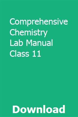 Comprehensive Chemistry Lab Manual Class 11 | truculenam | Chemistry