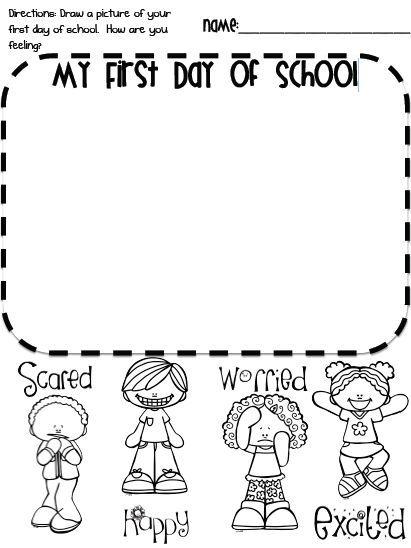 First Day Of School Freebie Kindergarten First Day First Day