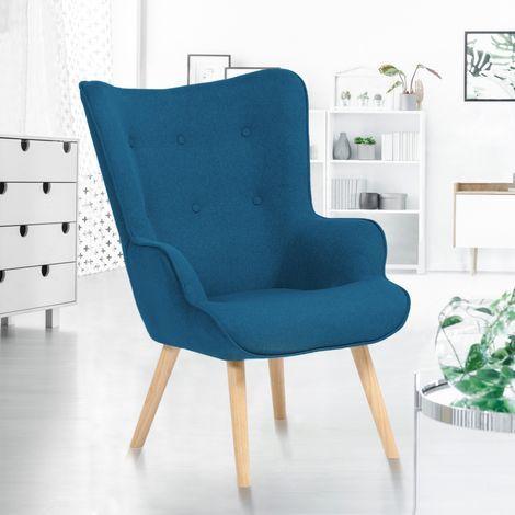 Fauteuil Scandinave Ivar En Tissu Bleu Canard 13477 En 2020 Fauteuil Design Scandinave Fauteuil Scandinave Bleu Et Fauteuil Scandinave